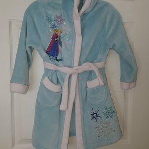 "Disney store ""Frozen"" girls hooded bath robe"